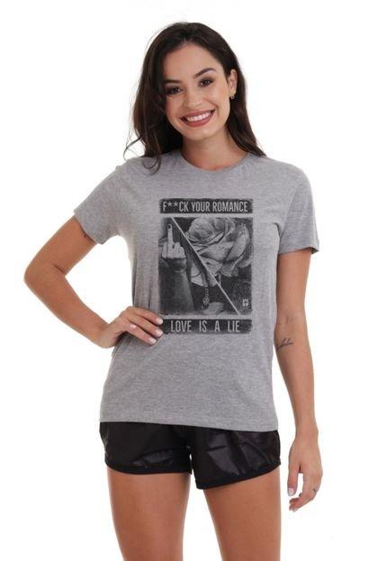 Joss Camiseta Basica Joss Romance Cinza Mescla aByAH