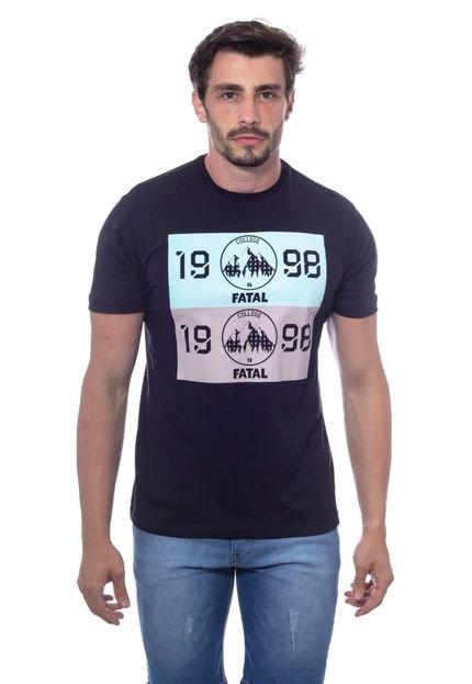 Camiseta Fatal Estampada Preta