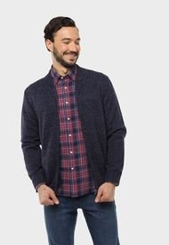 Sweater Bomber Full Zipper Azul Marino Arrow