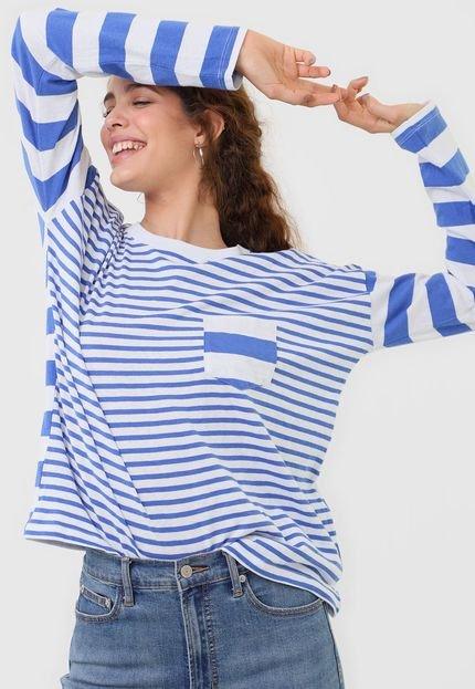 GAP Blusa GAP Listrada Azul vQbWz