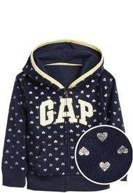 Poleron Girl Gap Logo Hoodie Azul GAP