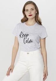 Polera Frases Gris Melange/Keep Calm Corona