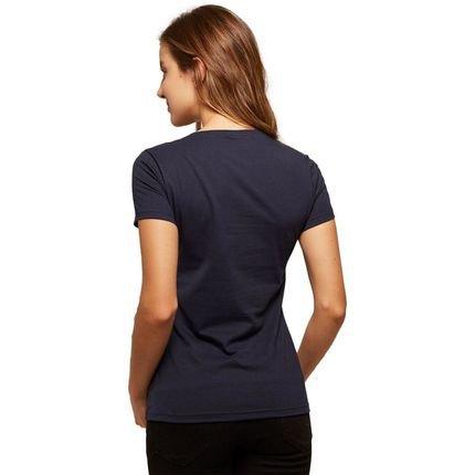 Basicamente. Kit de 7 Camisetas Basicamente. Babylook Básicas Azul FRnYY