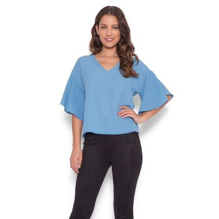 Lucy in The Sky Blusa Lucy in the sky manga Azul Gq5M4