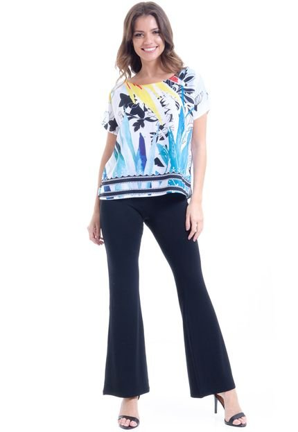 101 Resort Wear Blusa 101 Resort Wear Crepe Estampada wmOxZ