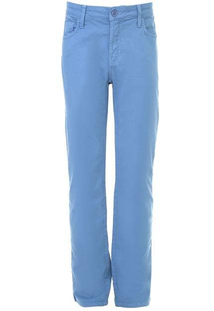 Calça Sarja Colcci Slim Pespontos Azul