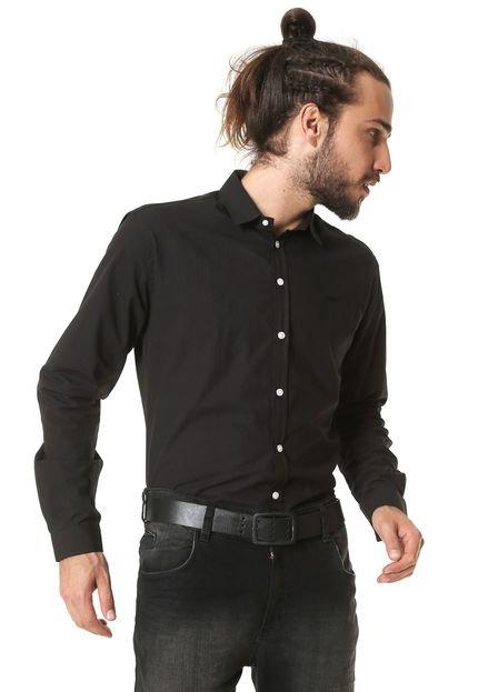 Camisa Colcci Reta Logo Preta