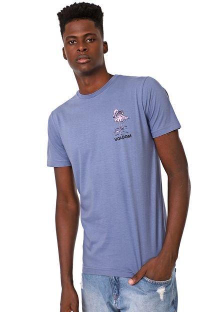 Camiseta Volcom The Drink Azul