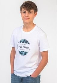 Polera Basica Estampada Regular Fit   Blanco Polemic