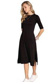 Vestido Largo Para Mujer Negro Rutta