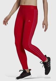 Leggings adidas performance W 3S LEG Rojo - Calce Ajustado