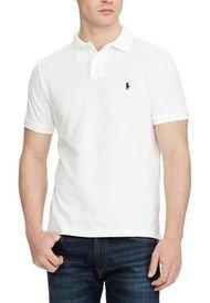 Polera Hombre Slim Fit Mesh Blanco Polo