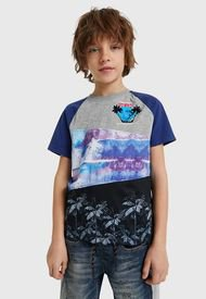 Polera Desigual Niño John Multicolor - Calce Regular