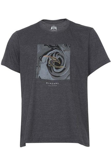 Camiseta Rip Curl Icon Box Grafite