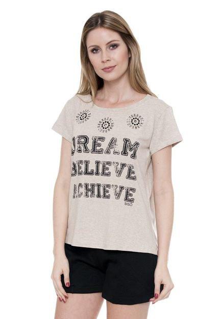 Bisô Blusa Bisô T-Shirt Dream Bege JTGBJ