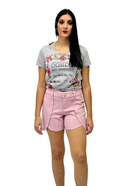 Energia Short Tecido Energia Fashion Rosa MRnOP