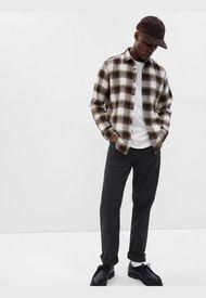 Jeans Straight Black Negro GAP
