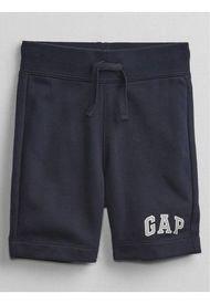 Short Logo Azul GAP