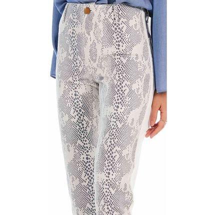 Maria Valentina Calca Maria Valentina  Skinny M. Julia Cos Alto Compose Tecido Off  Off-white heK7D
