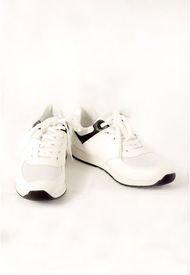 Deportivos Blancos Con Diseño Negro Para Hombre