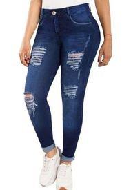 Jeans Colombiano Control De Abdomen DT Azul New Rodivan