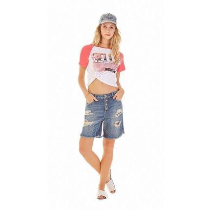 Zinco Bermuda Zinco  Slim Botao Vista  Jeans viGqn