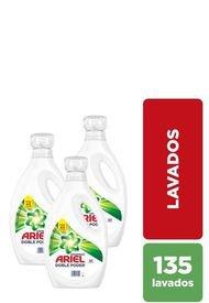 Pack X 3 Detergente Líquido Doble Poder Concentrado 1.8 L Ariel