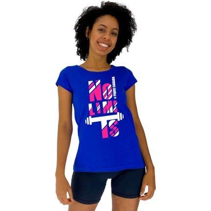 Alto Conceito Camisa Babylook Alto Conceito #FiqueiSarada No Limits Azul Royal. Nro8V