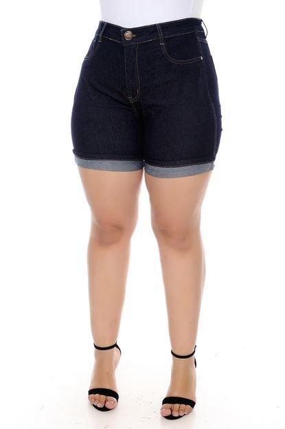 Xtra Charmy Shorts Xtra Charmy Jeans Plus Size com Cinta Modeladora-56 5qp7p