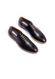 Zapato Casual/Formal 100% Cuero Negro AMBITIOUS CA-6777-5052AM