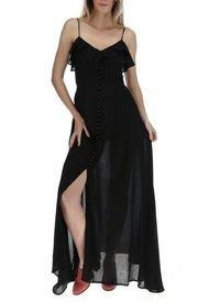 Vestido Largo Mujer Almeria Negro Rockford