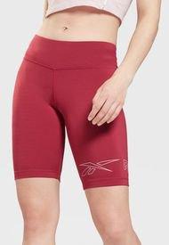 Short Reebok Piping Pack Poly Short Rojo - Calce Ajustado