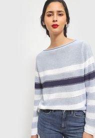 Sweater Privilege Celeste - Calce Holgado