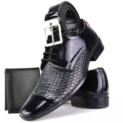 Dhl Calçados Kit Sapato Social Dhl Calçados Neway WS Shoes Tricê Preto eRvq1
