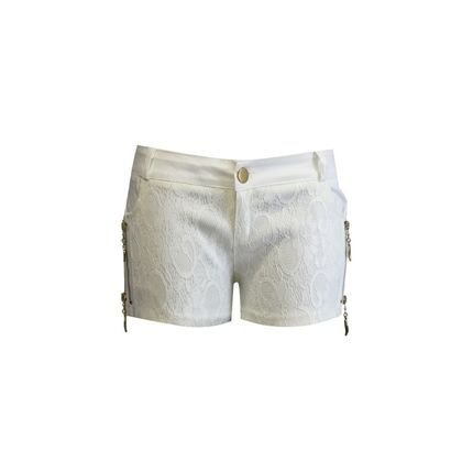 Lucy in The Sky Shorts Lucy in the sky ziper Branco mYcNk