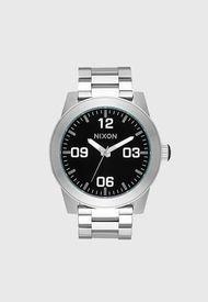 Reloj Análogo Plateado Nixon