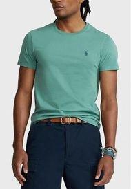 Polera Custom Slim Fit Crewneck Verde Polo Ralph Lauren