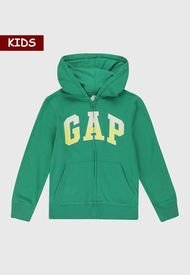 Chaqueta Verde-Blanco-Amarillo GAP Kids