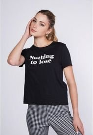 Polera Nothing To Negro Sioux