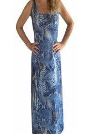Vestido Tiras Espalda Blue Piton Brasil Soo Glam