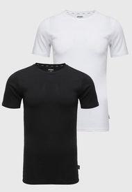 Pack 2 Camisetas Jockey Blanco/Negro - Calce Slim Fit
