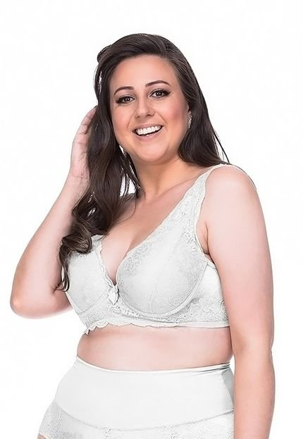 Sempre Sensual Lingerie Sutiã Sempre Sensual Femme Branco V70OA