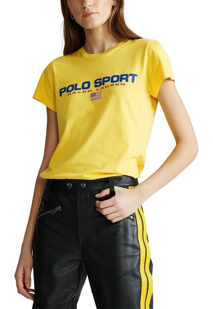 Polo Ralph Lauren Camiseta Polo Ralph Lauren Lettering Amarela Um5Va