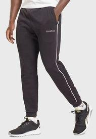 Jogger Reebok TE Piping  Negro - Calce Slim Fit