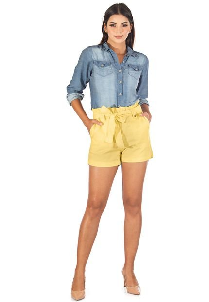 Sisal Jeans Shorts Sisal Jeans Clochard Amarelo RbRUa