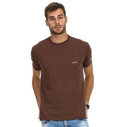 Camiseta VLCS Slim Fit Litoranea Marrom