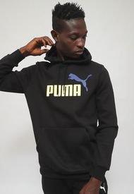 Polerón Puma ESS+ 2 Col Big Logo Crew FL Negro - Calce Regular