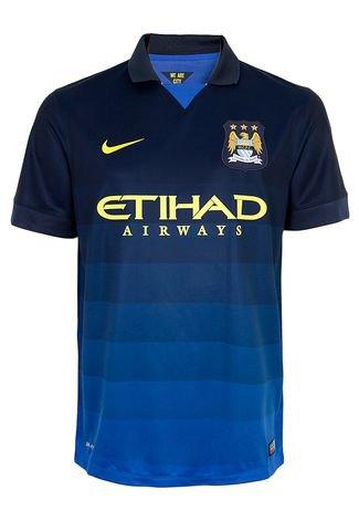 Camiseta Nike Manchester City Ss Away Azul Compre Agora Dafiti Brasil