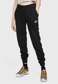 Pantalón de Buzo Nike W NSW ESSNTL PANT REG FLC MR Negro - Calce Regular