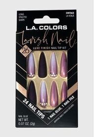 "Kit De Uñas Press On Con Diseño ""Lavish Nail La Voilá"" L.A Colors"